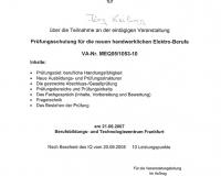 Qualifikation Neue handwerkliche Elektro-Berufe, 2017